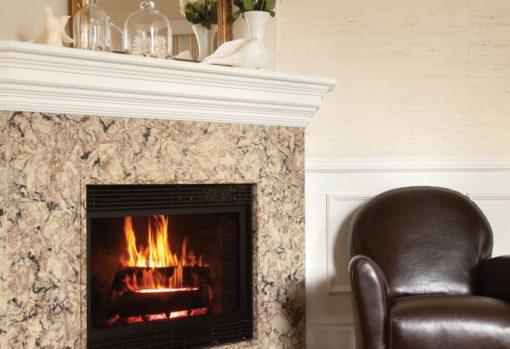 Bradshaw Cambria Quartz Fireplace Wall