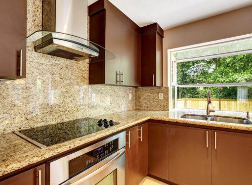 Giallo Ornamental Granite Kitchen