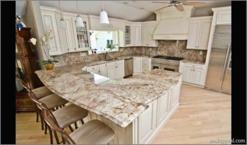 Bordeaux River Granite Kitchen Countertops