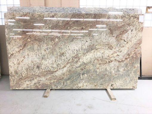 White Bordeaux River Granite Full Slab