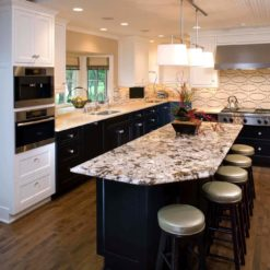 Largo Countertops Supplier with Absolute Cream Granite Kitchen