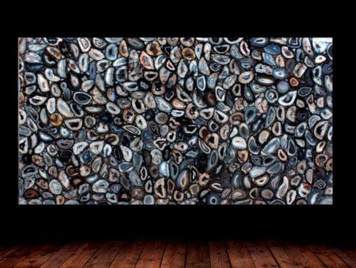 Black Agate Semi Precious Gemstone