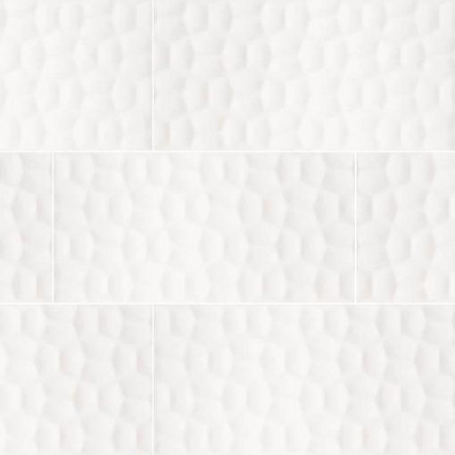 Adella Viso White 12×24 Satin