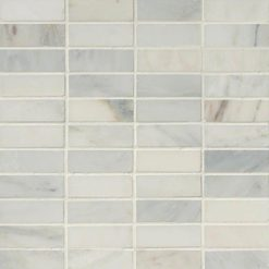 Arabescato Carrara 1×3 Honed In 12×12 Mesh