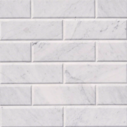 Arabescato Carrara 4×12 Honed And Big Beveled