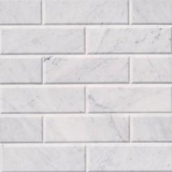 Arabescato Carrara 4×12 Honed And Big Beveled