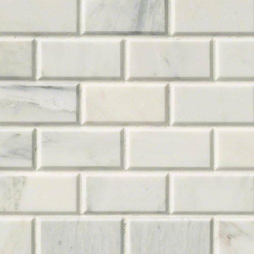 Arabescato Carrara Subway Tile 2×4