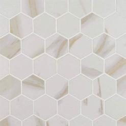 Calacatta Matte 2×2 Hexagon Mosaic