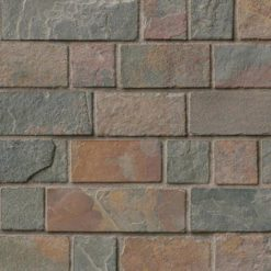 California Gold Tumbled Brick Pattern In 12×12 Mesh