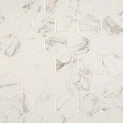Carrara Matte 2×2 Hexagon Mosaic