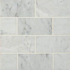 Carrara White Subway Tile 3×6