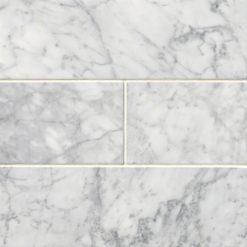 Carrara White Subway Tile 4×12