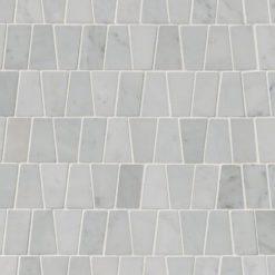Carrara White Trapezoid Pattern Polished
