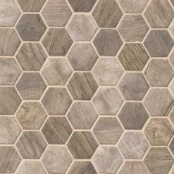 Driftwood Hexagon 6mm
