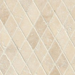 Durango Cream 2 Inch Rhomboids Tumbled In 12×12 Mesh