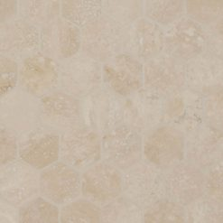 Durango Cream 2inch Hexagon Honed And Filled