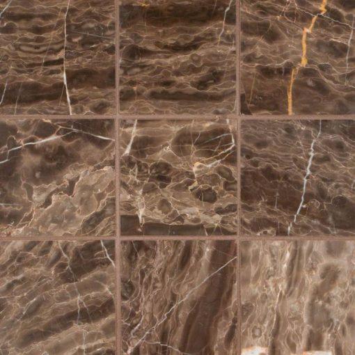 Emperador Cafe 4×4 Polished And Beveled Tile