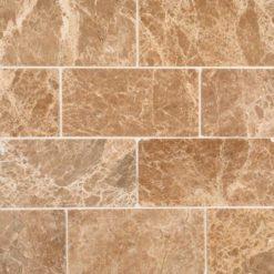 Emperador Light Marble Subway Tile Polished 3×6