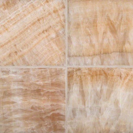 Giallo Crystal Onyx 6×6 Polished