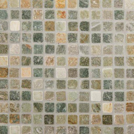 Golden White Quartzite 1×1 Tumbled In 12×12 Mesh