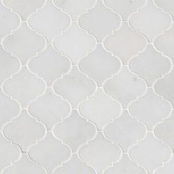 Greecian White Arabesque Pattern Polished