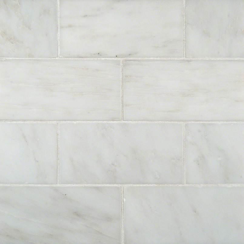 Greecian White Marble Subway Tile 3x6