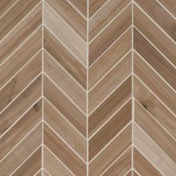 Havenwood Platinum Chevron Mosaic 12×15