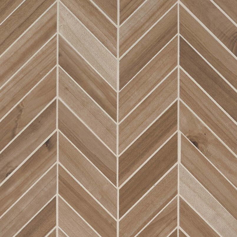 Havenwood Platinum Chevron Mosaic 12×15