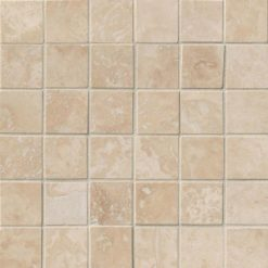 Ivory Travertine 2×2 Honed And Filled In 12×12 Mesh