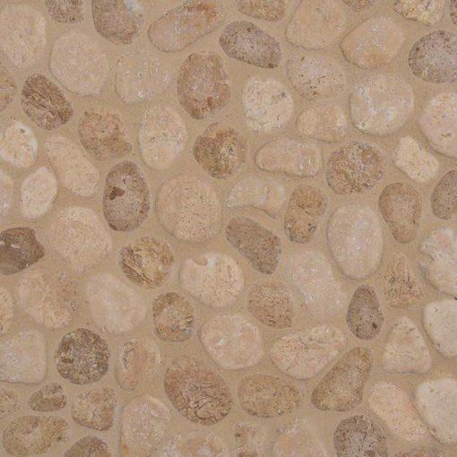 Travertine Blend Pebbles Tumbled Pattern 10mm