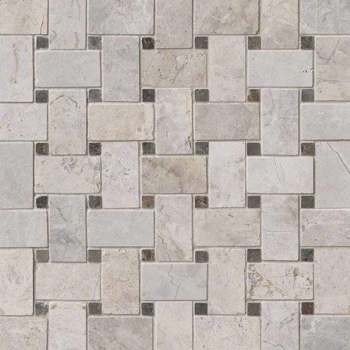Tundra Gray Basketweave Pattern Polished
