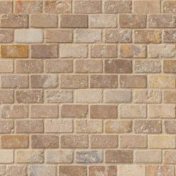 Tuscany Scabas 1×2 Tumbled In 12×12 Mesh
