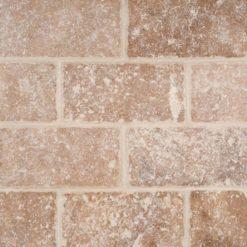 Tuscany Walnut Subway Tumbled Tile 3×6