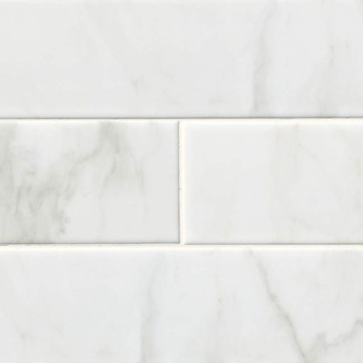 White Carrara Subway Tile 4×16