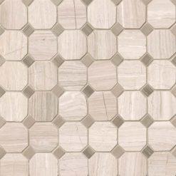 White Oak 2″ Octagon Honed