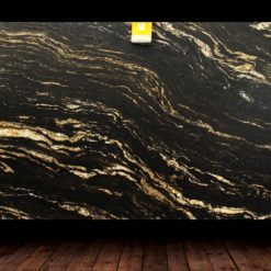 Black Cosmic Leather Finish Granite Slab countertops tampa sarasota clearwater