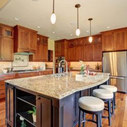 New Venetian Gold Granite Kitchen Island