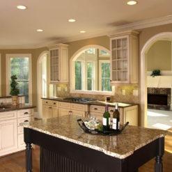 Santa Cecilia Gold Granite Kitchen