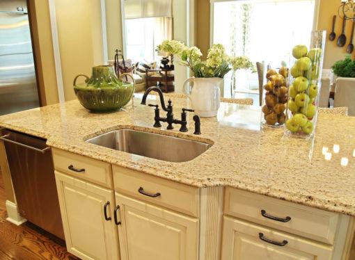 Santa Cecilia Gold Granite Kitchen Sink