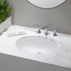 Oval Porcelain Undermount Sink