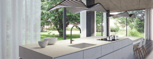 Fresh Concrete Caesarstone Quartz Kitchen