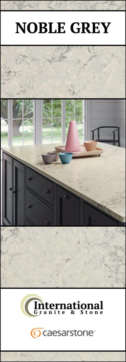 Noble Grey Caesarstone Quartz Full Slab Pinterest