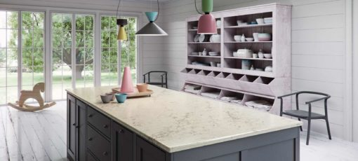 Noble Grey Caesarstone Quartz Kitchen