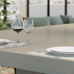 Raw Concrete Caesarstone Quartz Table