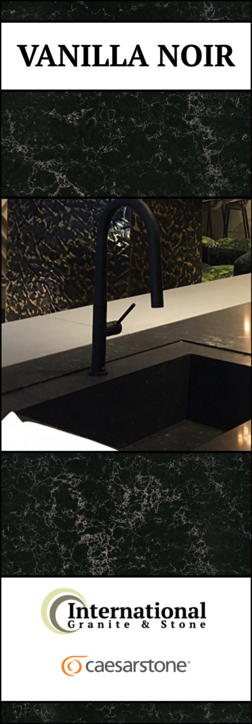 Vanilla Noir Caesarstone Quartz Full Slab Pinterest