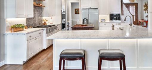 White Attica Caesarstone Quartz Kitchen