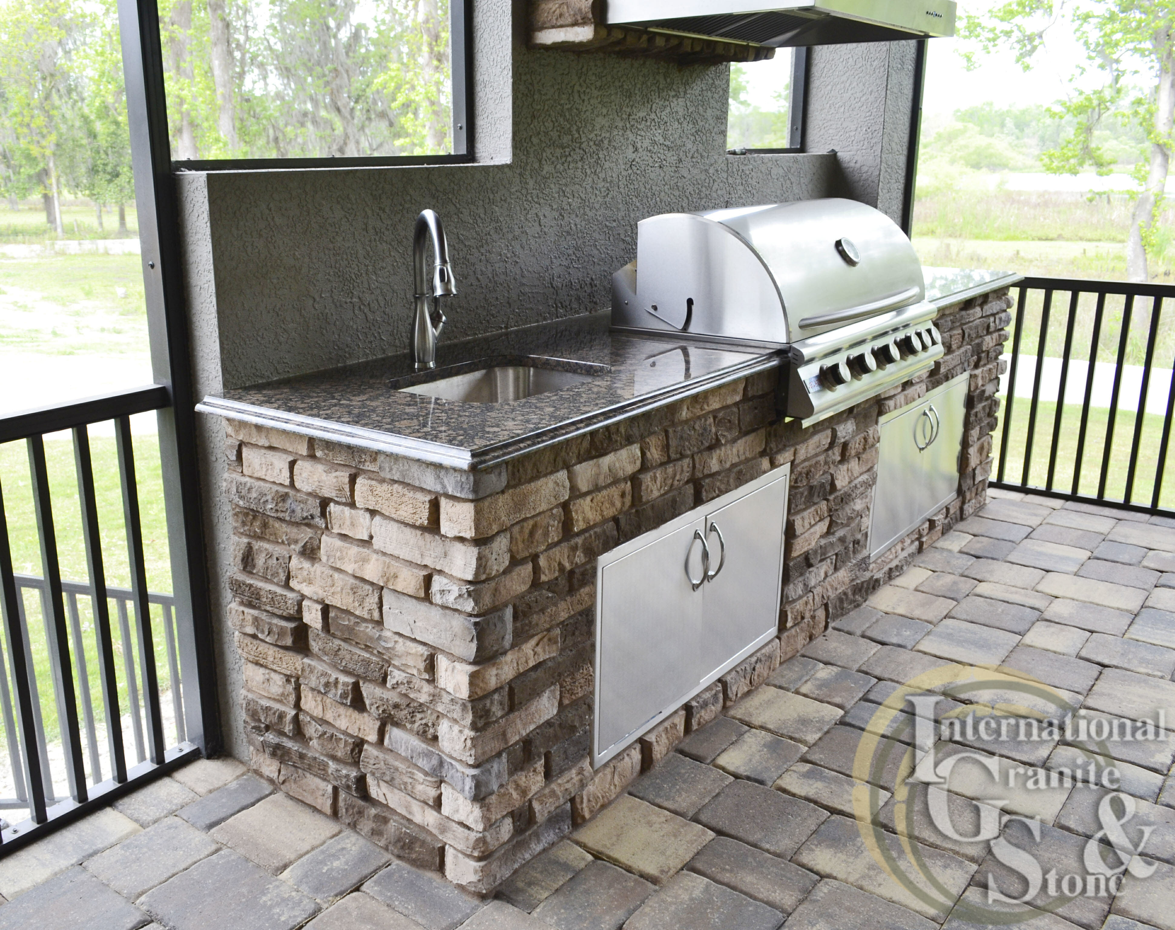 Pictures of International Granite and Stone Outdoor Kitchen ...