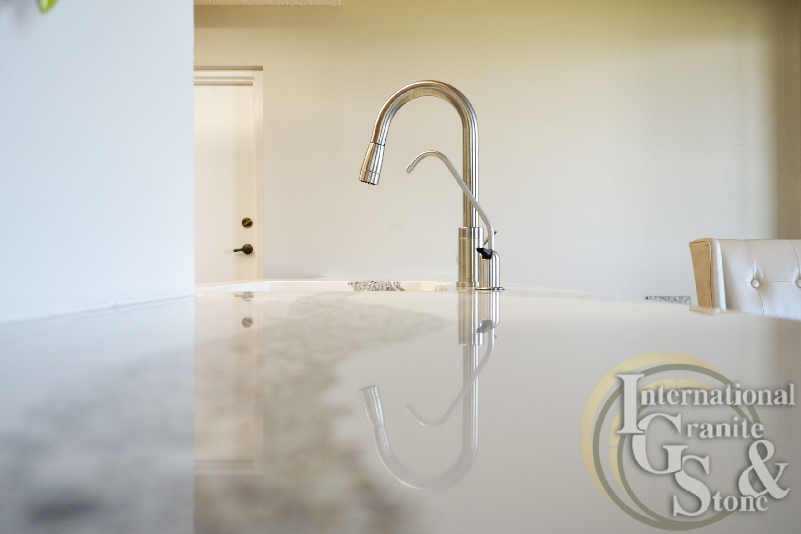 Stainless Steel Sink Faucet in Kitchen