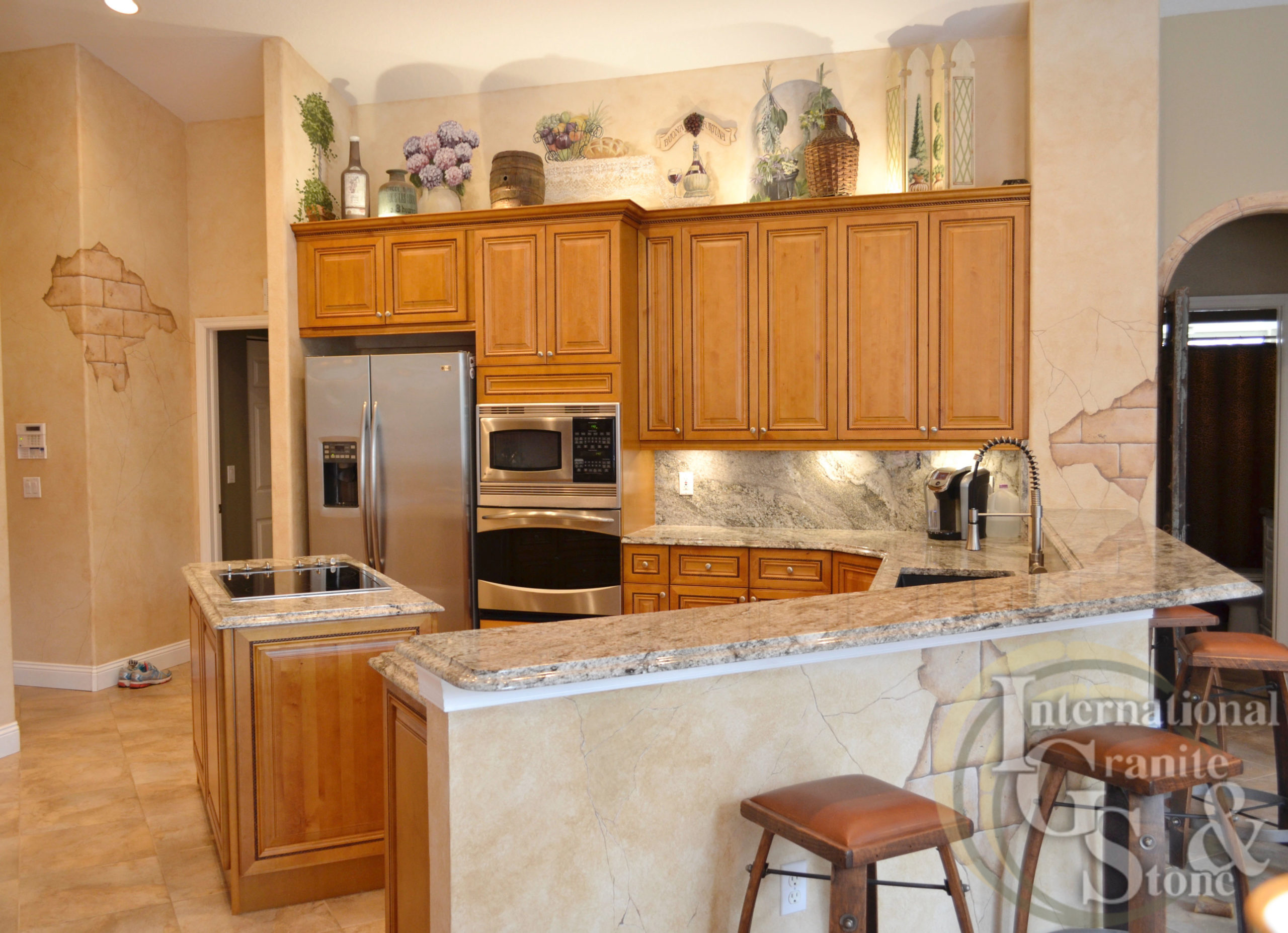 Typhoon Taupe Granite Kitchen Countertops