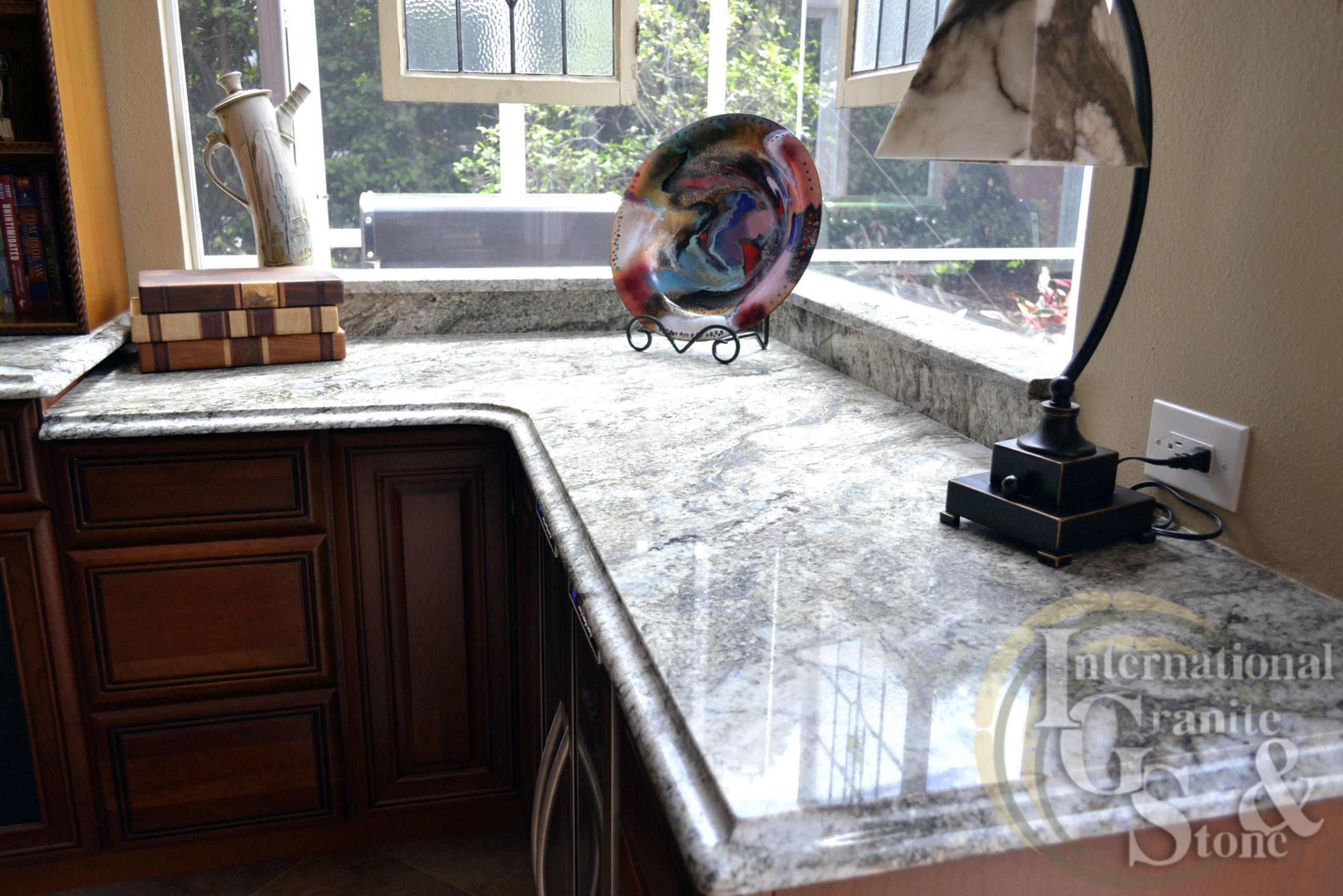 Typhoon Taupe Granite Kitchen Countertops